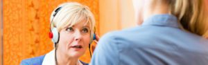 Audiology Woman Hearing Test