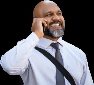 Audiology Man on Phone